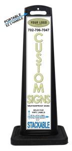 Custom Designed Portable Weatherproof A-Frame Alternative Signs