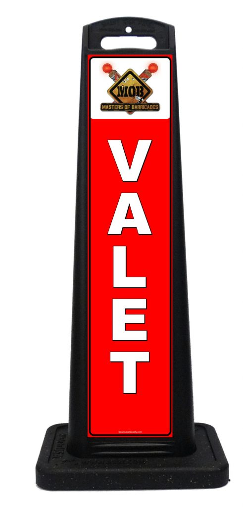 Portable red valet signs custom portable signs for 7047 design hotel