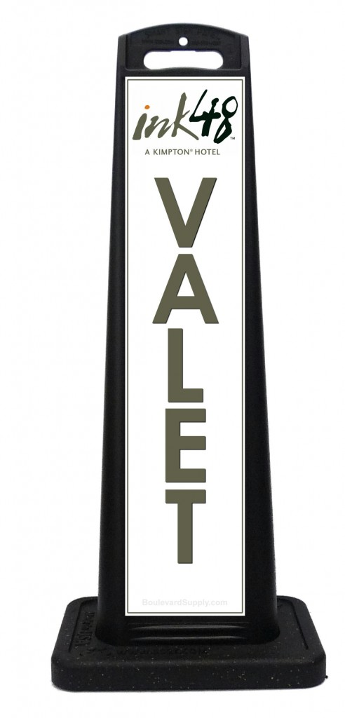 Portable valet sign custom portable signs for 7047 design hotel