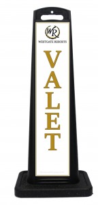 Portable Hotel Valet Sign