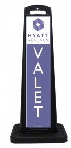 Hyatt Purple Valet Sign