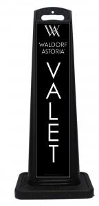 Waldorf Astoria Hotel Valet Sign Black