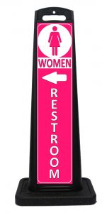 Portable Ladies Womens Restroom Sign