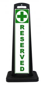 Portable Medical Dispensary Reserved Parking Sign
