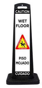 Plastic Bilingual Wet Floor Sign
