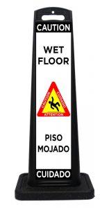 Plastic Bilingual Wet Floor Sign